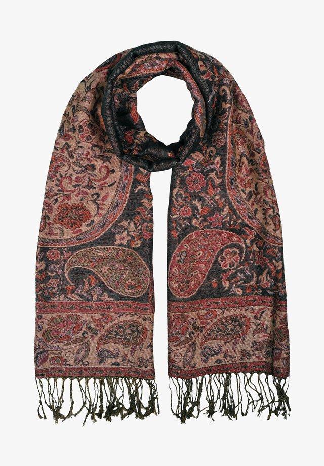 Sjaal - mehrfarbig gem. foto: schwarz & rot & beige & grün