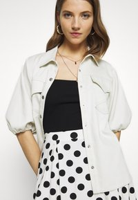Even&Odd - A-line skirt - off-white/black - 3