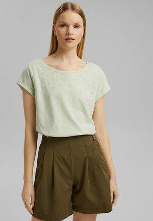 SLUB - Print T-shirt - pastel green