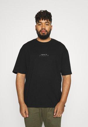 NAZO CHEST TS - T-shirt med print - black