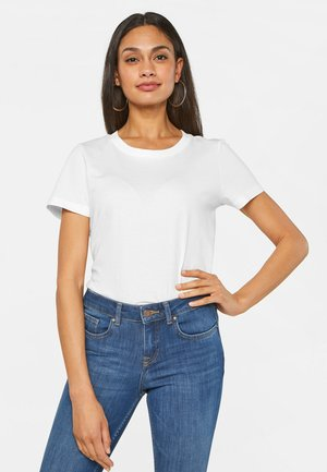 WE FASHION DAMEN-T-SHIRT AUS BIO-BAUMWOLLE - Basic T-shirt - white