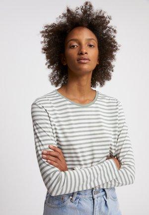 Long sleeved top - sage green-oatmilk