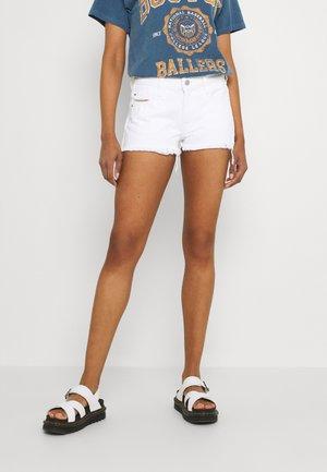 DE-RIFTY - Denim shorts - denim white