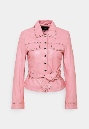 JANICE  - Leather jacket - marshmallow