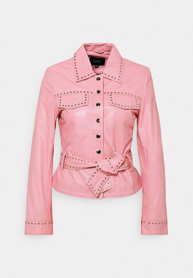 JANICE  - Leather jacket - marshmallow