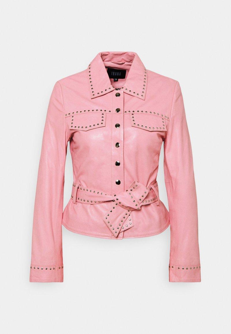 Ibana - JANICE  - Leather jacket - marshmallow
