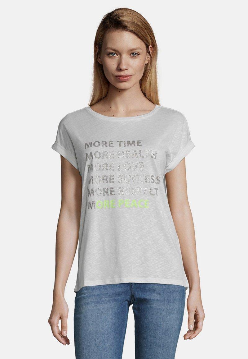 Cartoon - MIT AUFDRUCK - Print T-shirt - weiß/taupe