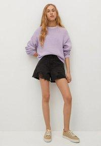 Mango - HELEN - Jeans Short / cowboy shorts - black denim - 1