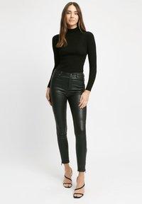Kookai - Leather trousers - z2-noir - 0