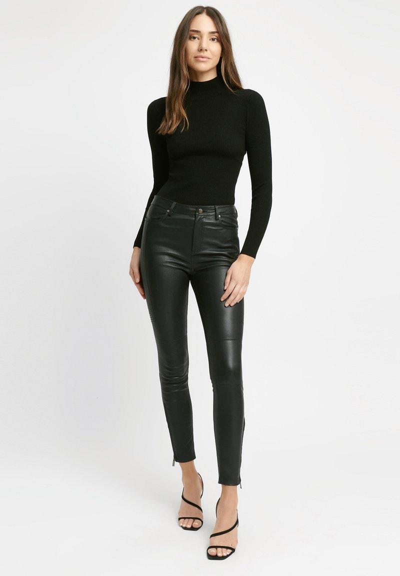 Kookai - Leather trousers - z2-noir