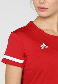 adidas Performance - TEAM 19 - Print T-shirt - power red/white - 5
