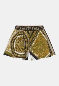 Versace - HERITAGE PRINT - Tracksuit bottoms - white/gold/kaki - 0