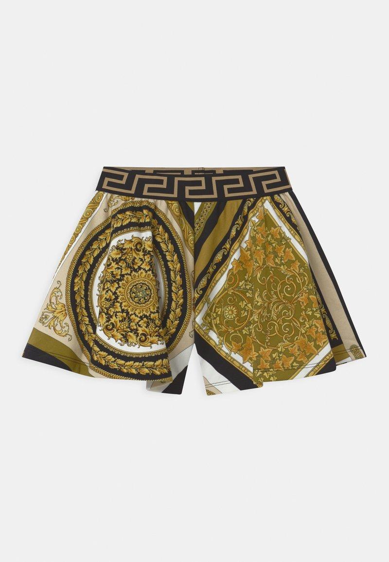Versace - HERITAGE PRINT - Tracksuit bottoms - white/gold/kaki