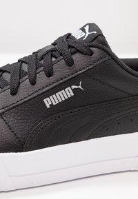 Puma - CARINA  - Matalavartiset tennarit - black/white/silver - 2