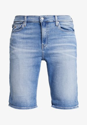 SLIM  - Denim shorts - light blue
