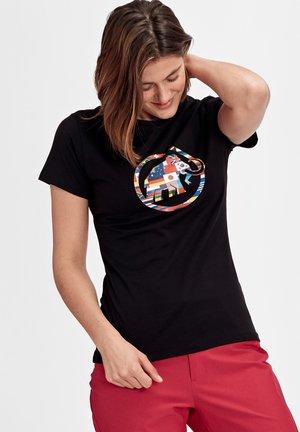 NATIONS - T-shirt z nadrukiem - black