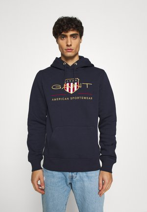 ARCHIVE SHIELD HOODIE - Sweat à capuche - evening blue