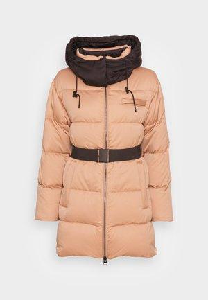ELEVATED SHINE BELTED COAT - Down coat - soft camel