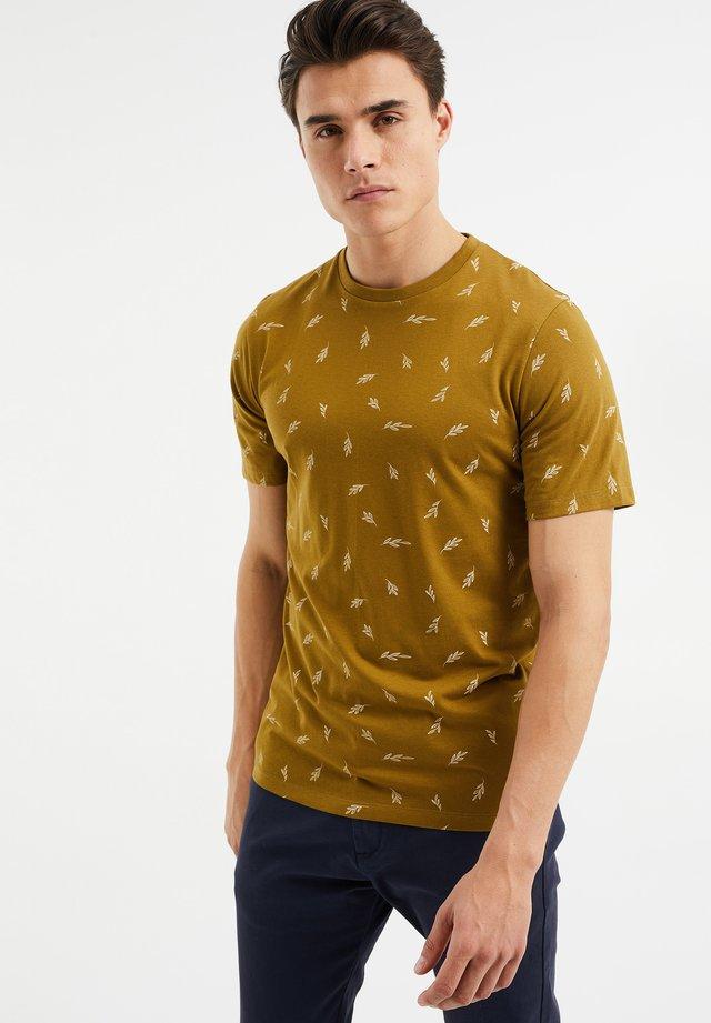 T-shirt print - ochre yellow