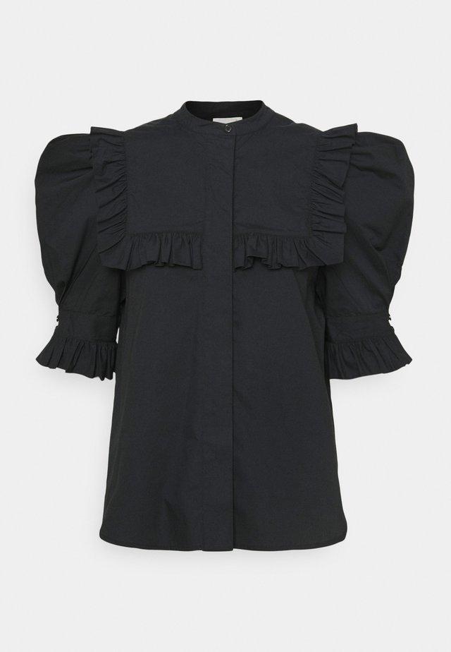 OIA - Button-down blouse - black