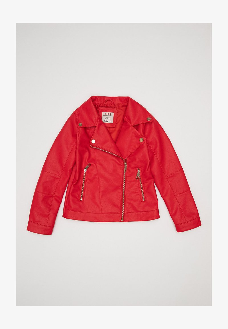 DeFacto - Faux leather jacket - red