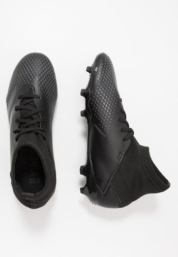 PREDATOR 20.3 FG - Moulded stud football boots - core black/solid grey