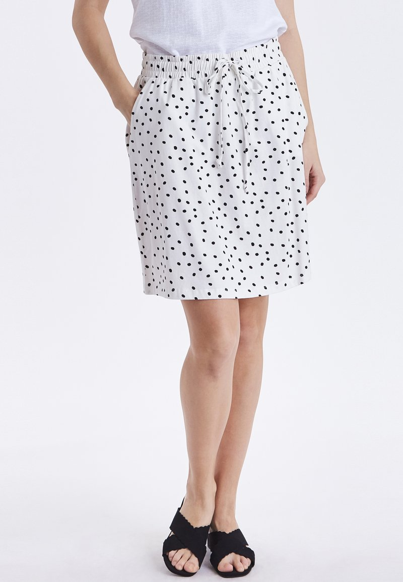 b.young - BYPANDINA  - A-line skirt - off white