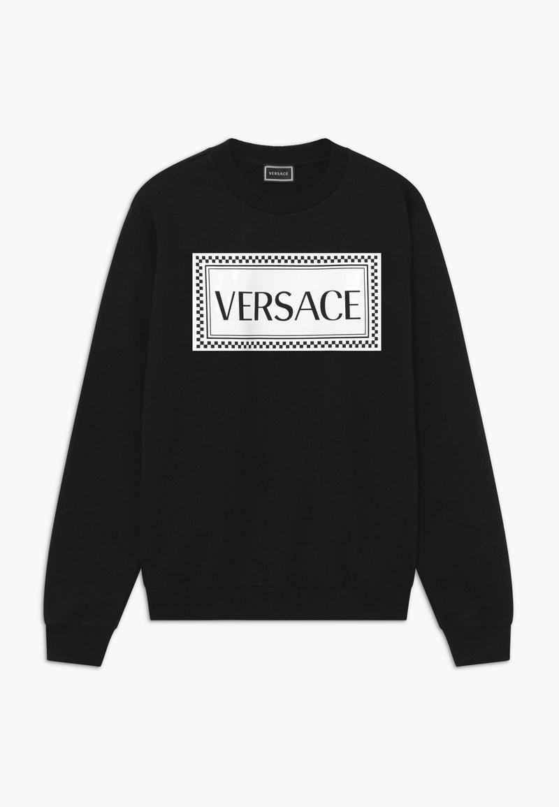 Versace - FELPA - Sweatshirt - nero-bianco