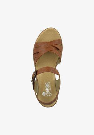 SCHUHE V1963 - Wedge sandals - cognac (v1963-22)