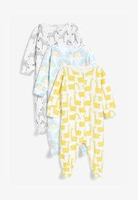 Next - 3 PACK CHARACTER RAINBOW  - Sleep suit - yellow - 0