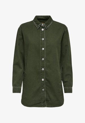 Button-down blouse - forest night