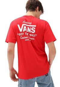 Vans - MN HOLDER ST CLASSIC - Print T-shirt - high risk red/white - 1