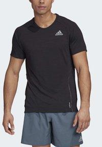 adidas Performance - SUPERNOVA PRIMEGREEN RUNNING SHORT SLEEVE TEE - Print T-shirt - black - 3