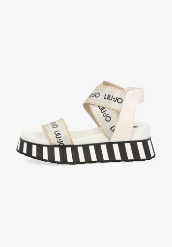 Platform sandals - gold