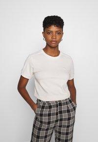 adidas Originals - STRIPES TEE - Print T-shirt - off-white - 0