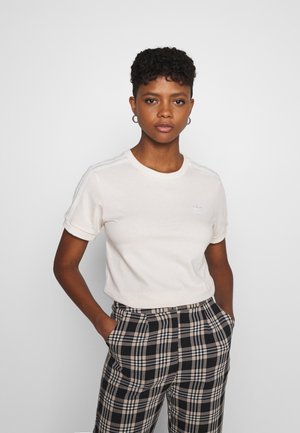STRIPES TEE - T-shirt imprimé - off-white