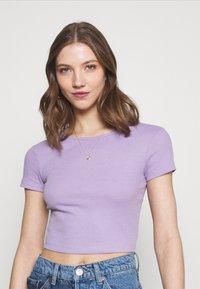 Even&Odd - Basic T-shirt -  mottled lilac - 3