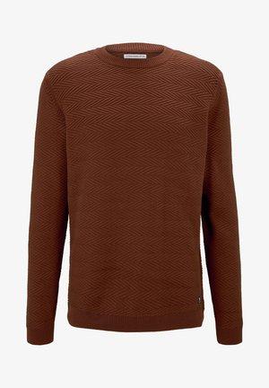 MIT ZICK-ZACK-STRUKTUR - Sweatshirt - ochre red