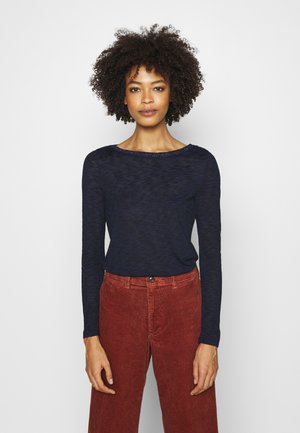 BOAT NECK - Sweter - navy