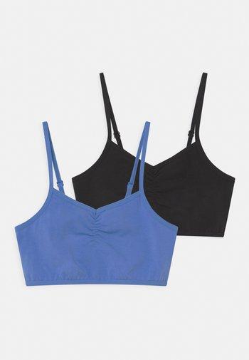 2 PACK - Bustier - black/blue