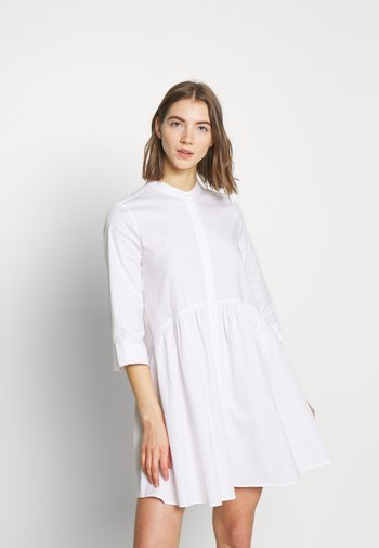 ONLDITTE LIFE DRESS - Vestido camisero - white