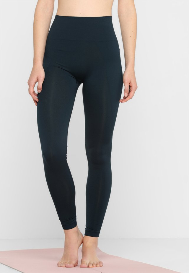 HIGH SEAMLESS LEGGING - Punčochy - dark ocean