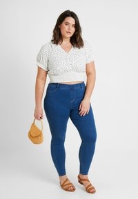 New Look Curves - SHIRRED SPOT - Blouse - white - 1