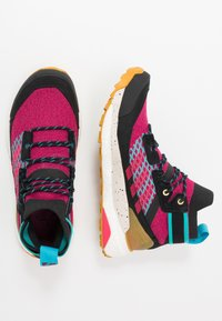 adidas Performance - TERREX FREE HIKER - Trekingové boty - berry/core black - 1
