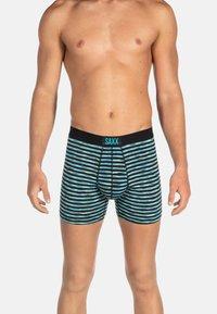 SAXX Underwear - VIBE TRUNK - Pants - Black Space Hiker Stripe - 0