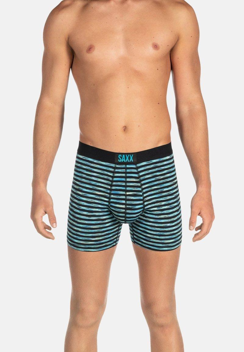 SAXX Underwear - VIBE TRUNK - Pants - Black Space Hiker Stripe