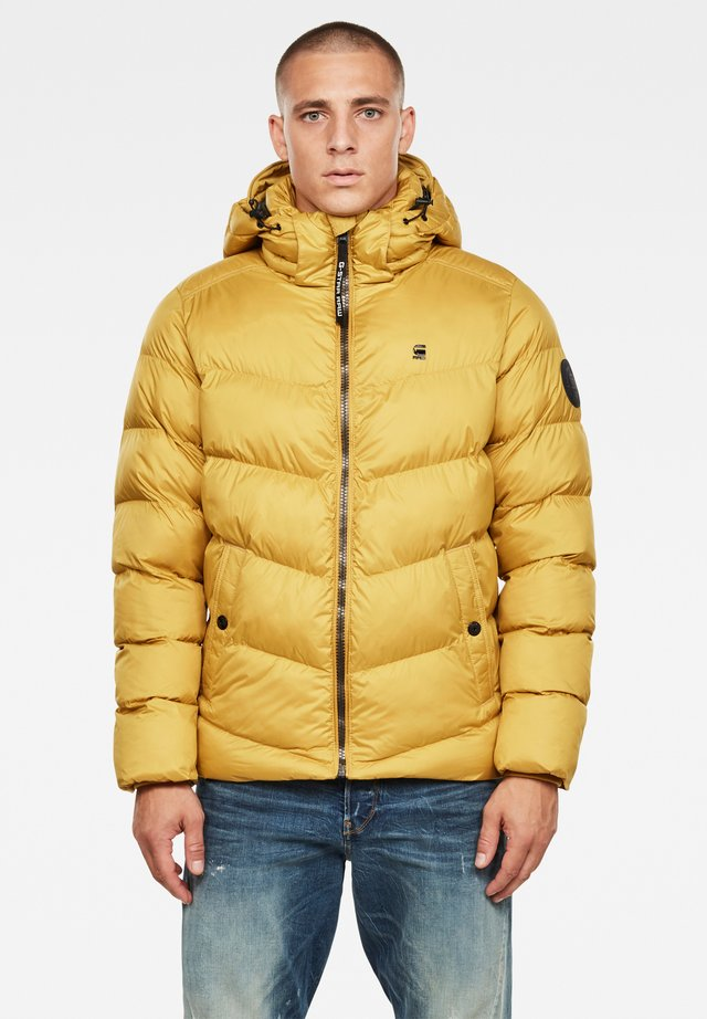 WHISTLER HOODED PUFFER - Winter jacket - yellow