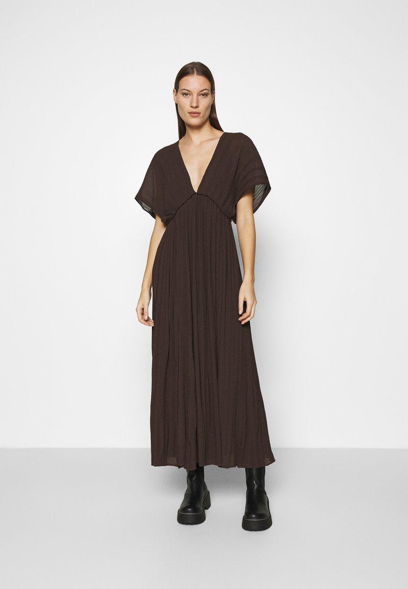 Samsøe Samsøe - QUARTZ LONG DRESS  - Maxi dress - mole