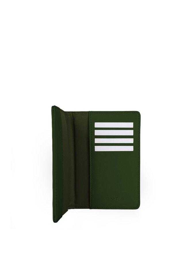 Visitkortetuier - dunkelgrün