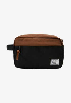 CHAPTER - Wash bag - black/saddle brown